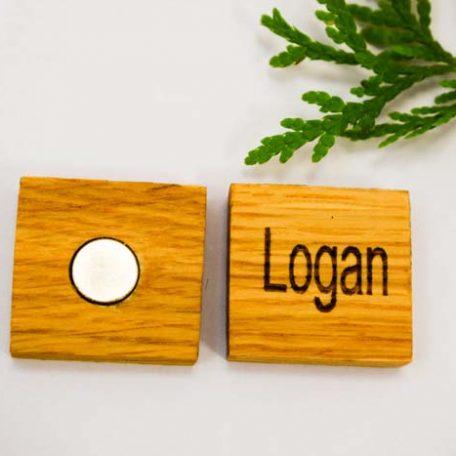 Fridge magnet custom wooden
