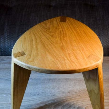 Oak three leg stool