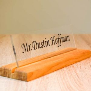 Table sign custom name wood and acrylic