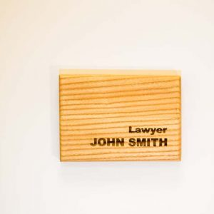 Wooden door sing nameplate